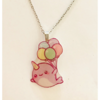 Narwhal with Balloons Necklace