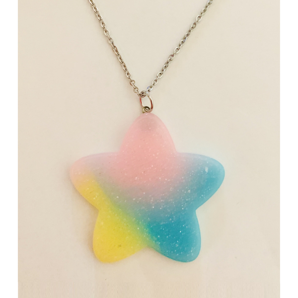Pastel Star Necklace - Yellow