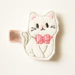 White Cat Hair Clip