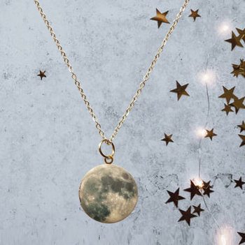 Moon Locket Necklace