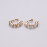 Clear Sparkle Cuff Earrings
