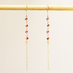 Amethyst & Garnet Dangle Earrings