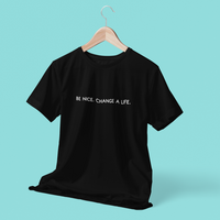 Be Nice Black Tee Shirt