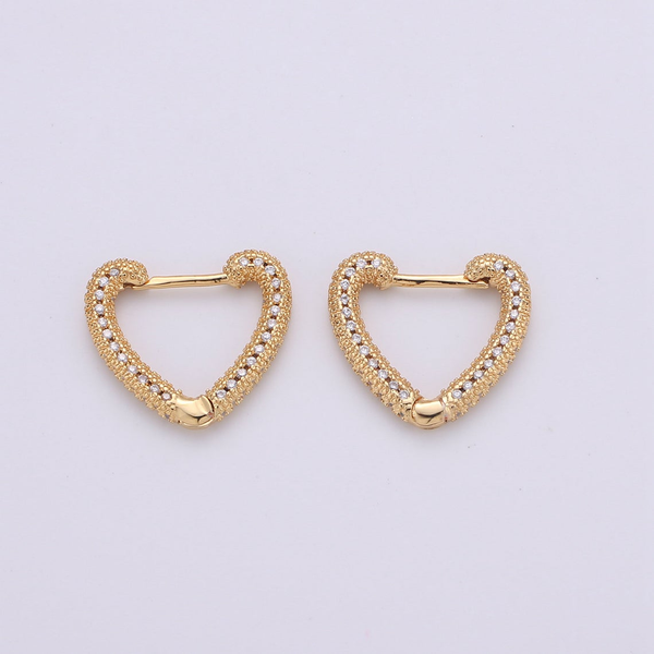 Heart Sparkle Hoop Earrings