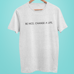 Be Nice Heather Grey Tee Shirt