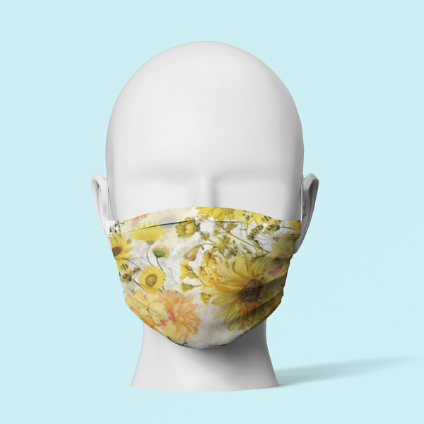 Yellow Flowers - Face Mask