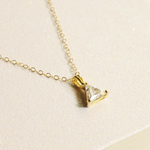 Sparkle Triangle Charm Necklace