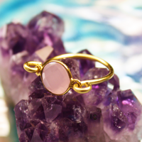 Rose Quartz Gold Ring