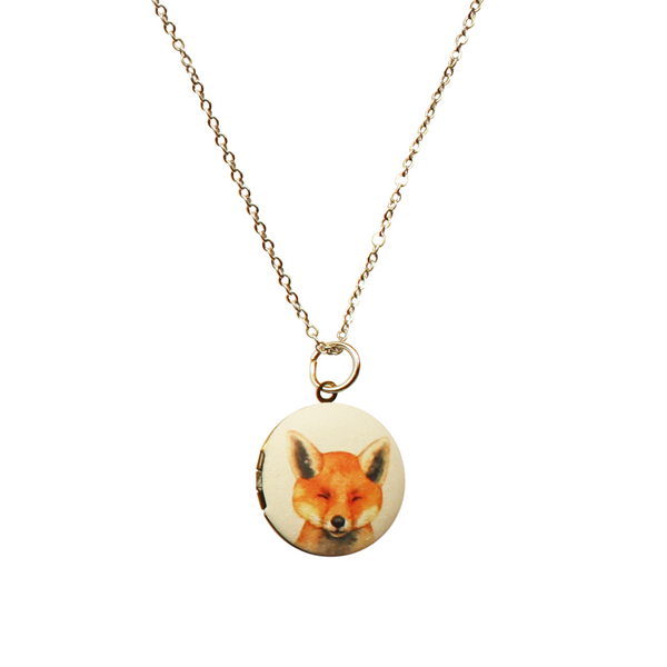 Fox Locket Necklace