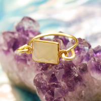 Chalcedony Gold Ring