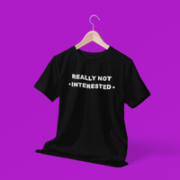 Not Interested Ace Pride Tee Shirt
