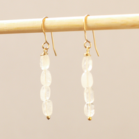 Stacked Moonstone Earrings