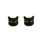Black Cat Earring
