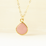 Rose Quartz Heart Gem Necklace