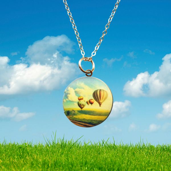 Hot Air Ballon Locket Necklace
