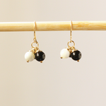 Black Onyx & Pearl Earrings