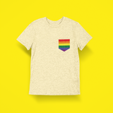 Gay Pride Pocket Tee Shirt