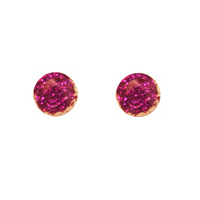 Glitter Purple Circle Earring