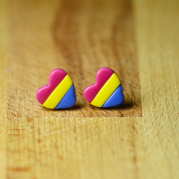 Pan Pride Heart Earring