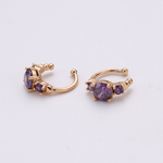 Purple Sparkle Cuff Earrings