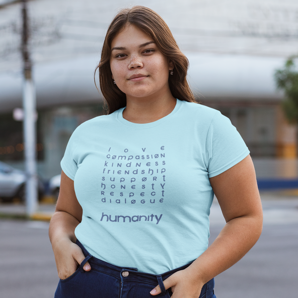 Humanity Light Blue Tee Shirt