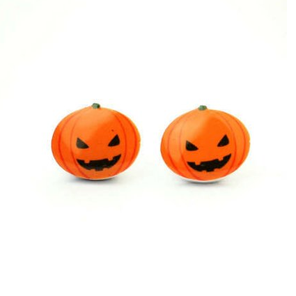 Carved Pumpkins Earring