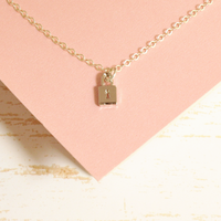 Silver Key to My Heart Charm Necklace