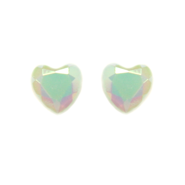 Pastel Mint Heart Earring