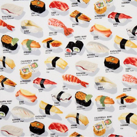 Sushi on White - Traditional Face Mask  (In Stock)