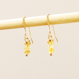 Triple Citrine Stacked Earrings
