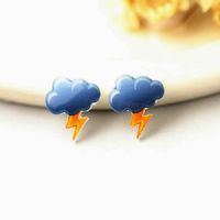 Storm Cloud Earring