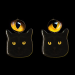 Black Cat & Yellow Eyes Hoop