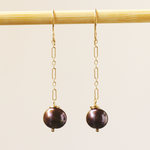 Tahitian Round Pearl Earrings