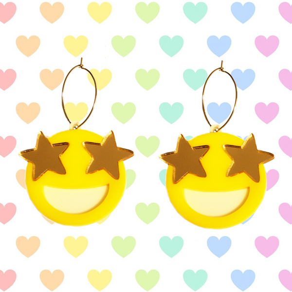 Star Struck Emoji Hoops