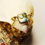 Abalone Square Gold Ring