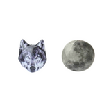 Wolf and Moon Earring