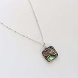 Square Abalone Gem Necklace