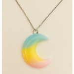 Pastel Moon Necklace - Yellow