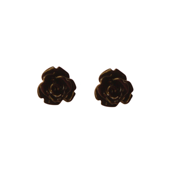 Black Rose Earring