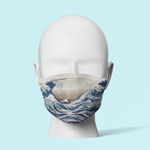 The Great Wave - Traditional Face Mask   (In Stock)