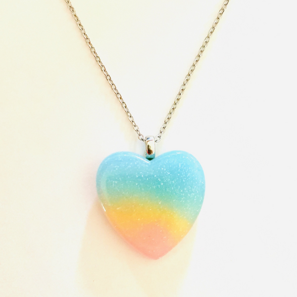 Pastel Heart Necklace - Yellow