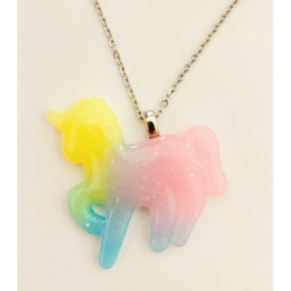 Pastel Unicorn Necklace - Yellow