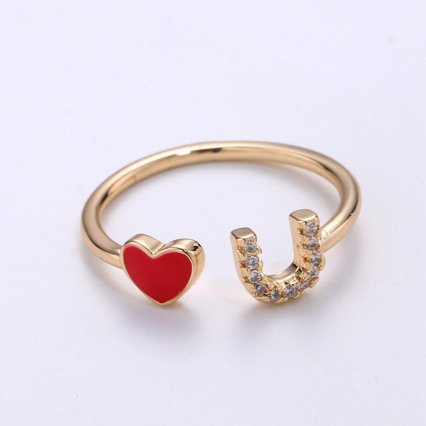 Love You Adjustable Ring