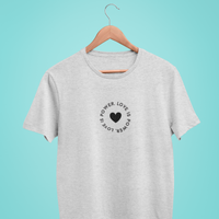 Love is Power Heather Grey Tee Shirt