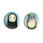 No Face and Totoro Holographic Button Set
