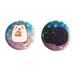Cats Furrever Holographic Button Set