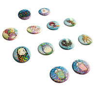Totoro and Soot Sprites Holographic Button Set