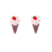 Sculpted Ice Cream - Chocolate Earring
