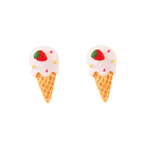 Sculpted Ice Cream - Vanilla Earring