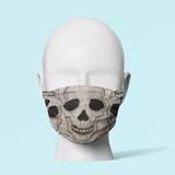 White Skulls - Traditional Face Mask  (In Stock)